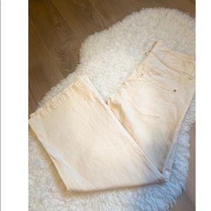 Michael Kors Wide Leg Cream Denim Jeans size 6P